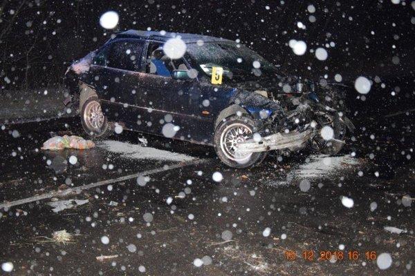 Sobotňajšia nehoda v obci Palín.