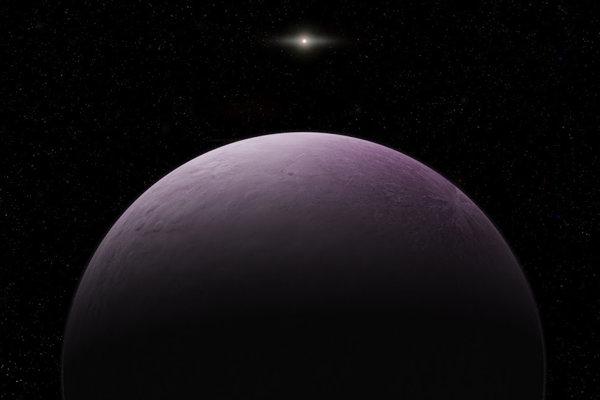 Umelecké vyobrazenie planétky Farout.