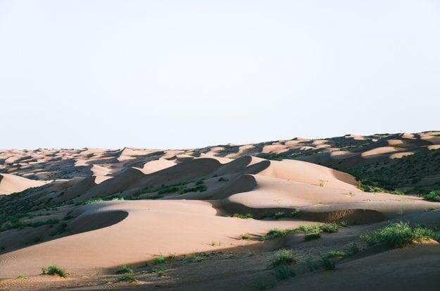 Púšť v Ománe, kde môžete stráviť noc