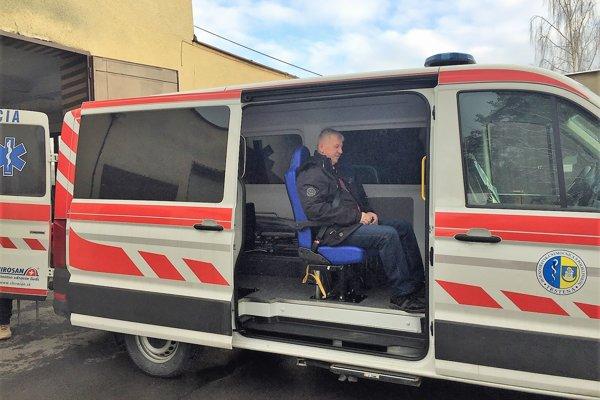 Sanitka dorazila do Hornooravskej nemocnice minulý týždeň.