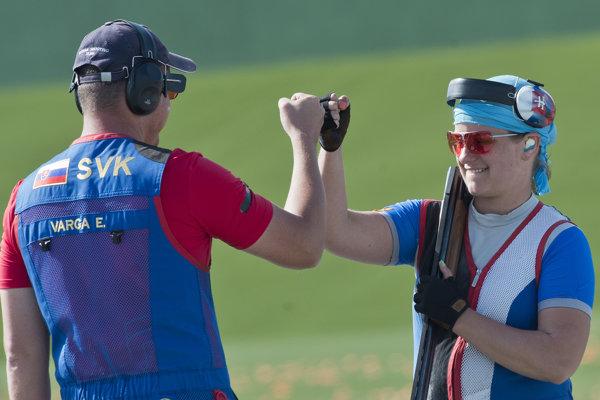 Erik Varga a Zuzana Rehák Štefečeková sú majstrami sveta v tímovom mixe v streľbe na trap.