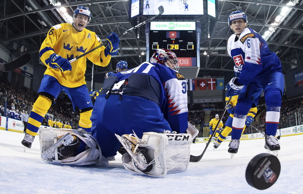 41c9c2235fa1 Slovensko - Švédsko 2 5 na MS v hokeji do 20 rokov 2019 - Šport SME