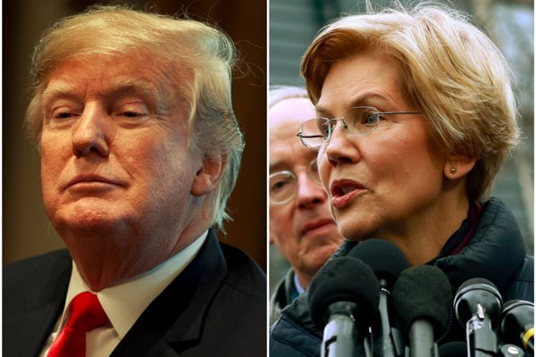 Donald Trump a Elizabeth Warrenová.