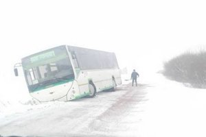 Nehoda autobusu pri Výbornej.