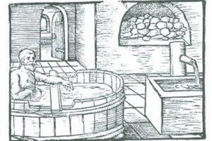 Dobový obrázok kúpeľov.