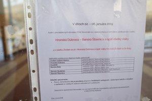 Obmedzenie má platiž od 2. do 6. januára, hovorí oznam na dverách zamknutej stanice.