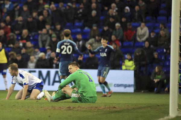 Momentka zo zápasu Tranmere - Tottenham.