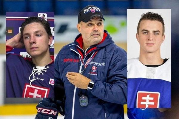 Tréner Bokroš, vľavo Miloš Fafrák, vpravo Martin Pospíšil.