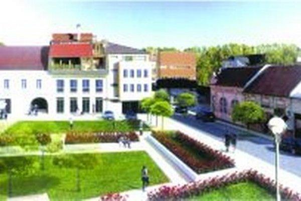 Ak poslanci schvália navrhnutú investíciu, v Ružomberku by mohlo vzniknúť príjemné miesto na oddych neďaleko centra mesta.
