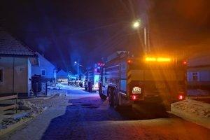 Nočný požiar v Lazanoch.