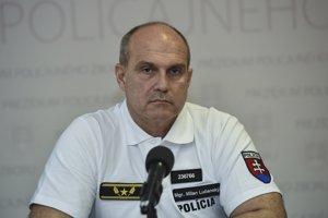 Na snímke prezident Policajného zboru Milan Lučanský.