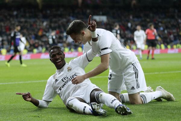 Vinicius Jr. (vľavo) sa teší z gólu do siete Leganés.