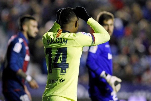 Momentka zo zápasu Levante - FC Barcelona.