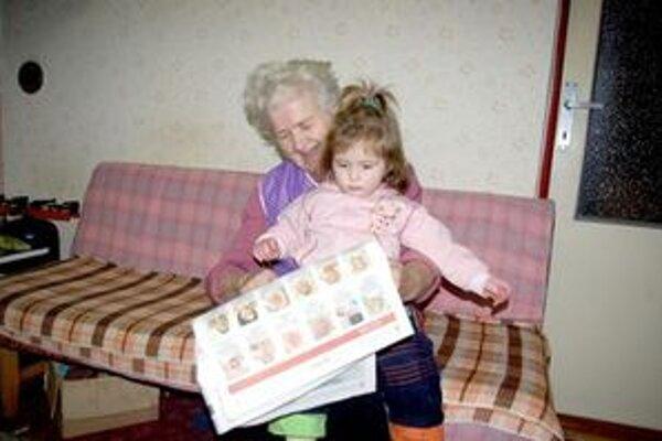 Dve generácie.S vnučkou Terezkou.