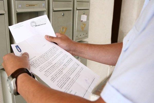Náklady na listy od primátora boli podľa neho tisíc eur.