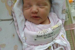 Eliška Borišincová (3540 g a 51 cm) sa narodila 4. januára Márii a Jozefovi z Trstia. Teší sa aj sestra Natálka.