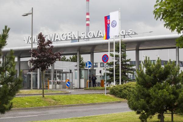 Areál závodu Volkswagen Slovakia v Bratislave.