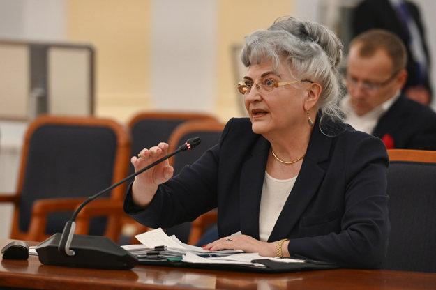 Kandidátka na post ústavnej sudkyne a súčasná predsedníčka Najvyššieho súdu SR Daniela Švecová.