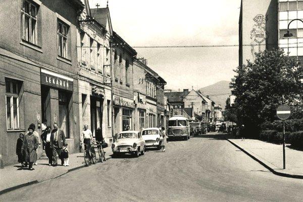 Jednosmerka v 60-tych rokoch.