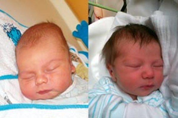 Prvé deti roku 2012: Matej Kupec (vľavo) a Andrej Halahija.
