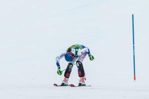 Petra Vlhová prichádza do cieľa v druhom kole.