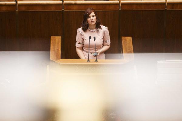 Poslankyňa NR SR za stranu OĽaNO Veronika Remišová.