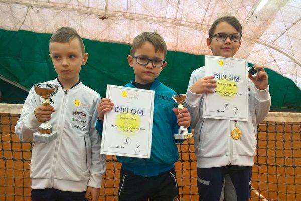 Chlapci (zľava): Dávid Slaninák, Igor Malinka, Kristián Adamkovič.
