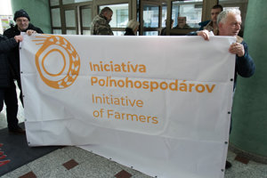 Nespokojní farmári v Bratislave.
