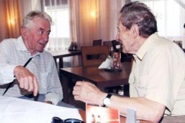 Ladislav Kováč (vľavo) s Milanom Žuffom.