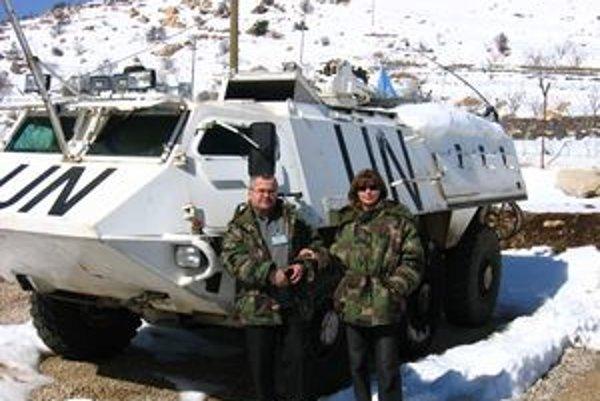 Oldřich Hlaváček v Golanských výšinách na misii v UNDOF.