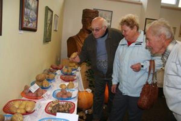 Na výstave je najviac jabĺk a zemiakov. Sú medzi nimi aj ružové a modré.