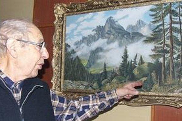 Vladimír Iľanovský namaľoval už päťdesiat olejomalieb. Jeho dom je už akousi minigalériou obrazov.