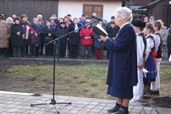 Zuzana Kubániová iniciovala posvätenie demänovskej zvonice. Z vydareného diela mala radosť.