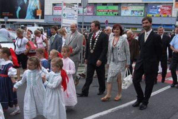 Staronový predseda kraja Juraj Blanár (vpravo) počas nedávnej návštevy Liptovského Mikuláša.