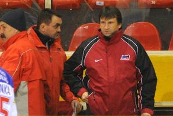 Nová trénerská dvojica Liptovského Mikuláša Ladislav Spišiak (vpravo) a Marián Horváth.