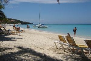 9. pláž West Bay, Roatan, Honduras