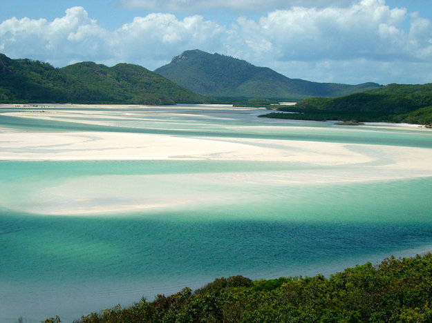 Pláž Whitehaven, ostrov Whitsunday, Austrália