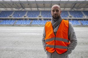 Ivan Kmotrík mladší na Národnom futbalovom štadióne na Tehelnom poli.
