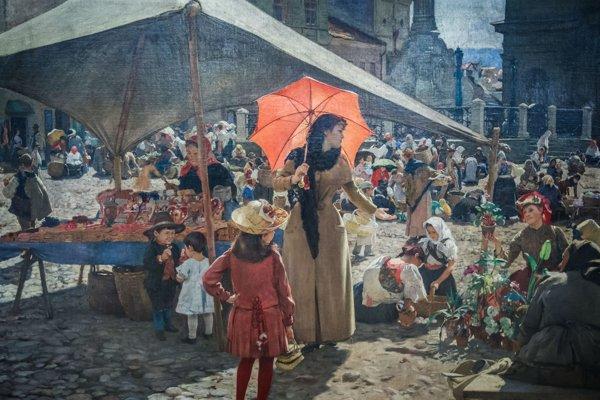 Preslávený Trh v Banskej Bystrici.
