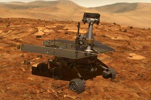 Rover Opportunity na vizualizácii. NASA je s výsledkom misie spokojná. Rover na Marse vydržal 55-krát dlhšie, ako plánovali.