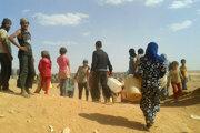 Utečenecký tábor Rukban.