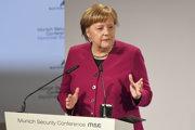 Merkelová na konferencii v Mníchove.