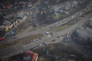 Dopravná situácia -  križovatka Patrónka