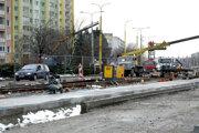 Modernizácia električkových tratí v Košiciach.