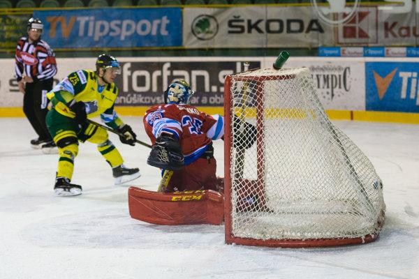 Momentka zo zápasu Žilina - Liptovský Mikuláš.