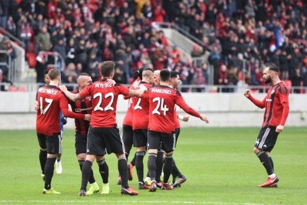 Futbalisti FC Spartak Trnava na ilustračnej fotografii.
