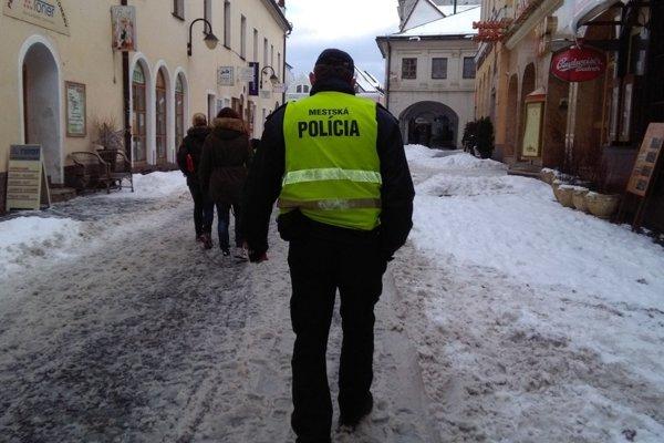Mestská polícia v Žiline.