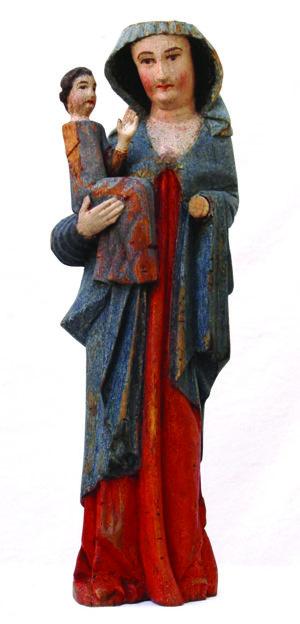 Socha Madony s dieťaťom je najstaršou v galérii.