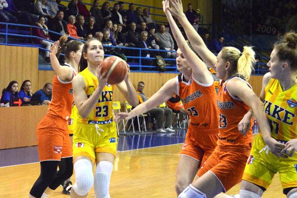 Košické basketbalistky doma nestačili na Ružomberok, ktorému podľahli o 22 bodov.