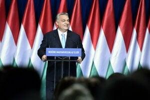 Predseda maďarskej vlády a strany Fidesz Viktor Orbán.